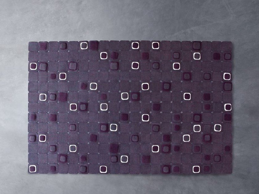 Felt rug with geometric shapes PIXEL by paola lenti