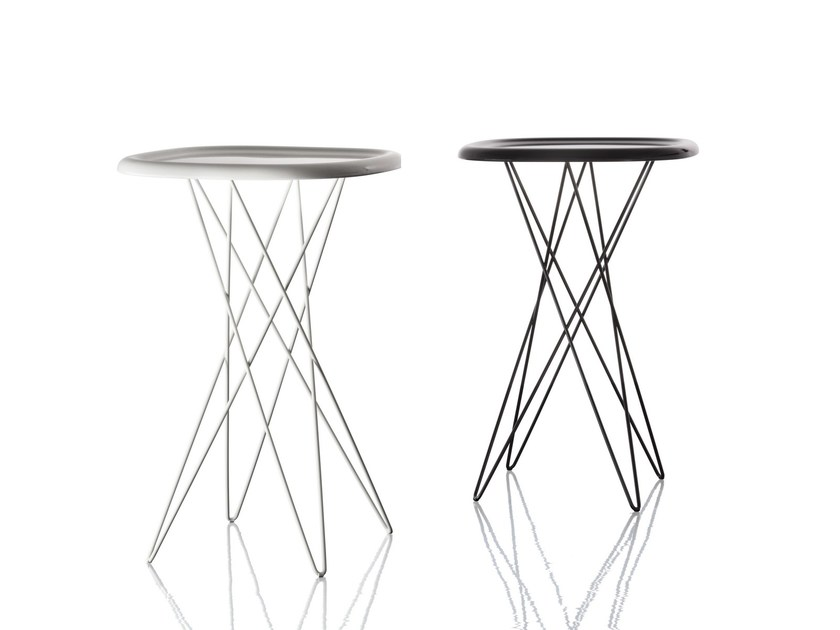 Square powder coated steel high side table PIZZA TABLE | High side table by Magis