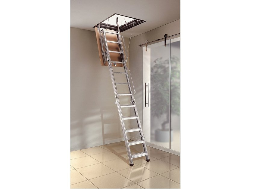 Steel Retractable stair PK | Retractable stair by MOBIROLO