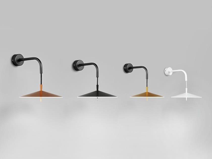 Aluminium wall lamp with fixed arm PLA 6656 by Milan Iluminacion
