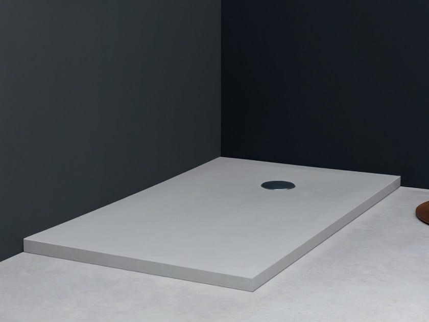 Piatto doccia rettangolare in ecobiosolid plaid linea piatti doccia