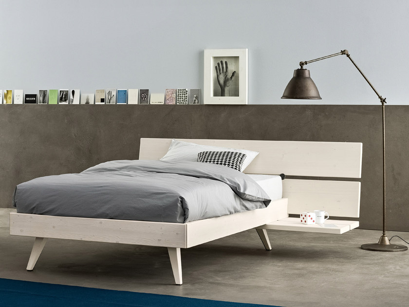 Full size spruce bed PLANA | Full size bed by Scandola Mobili