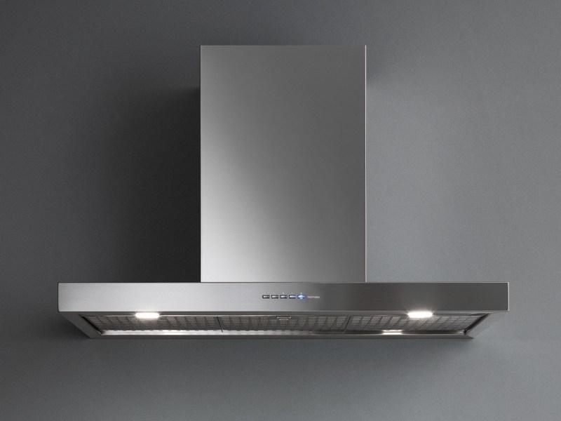 Wall-mounted stainless steel cooker hood with activated carbon filters PLANE NRS by Falmec