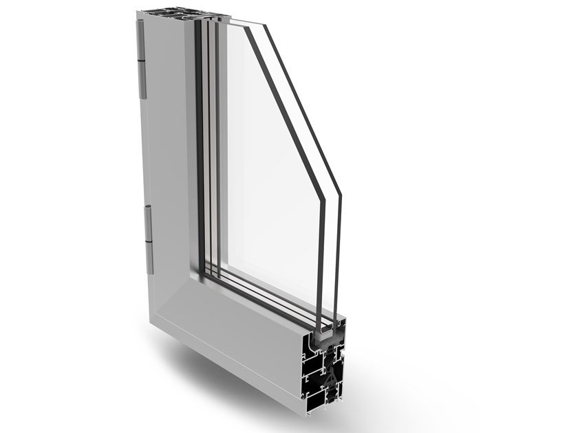 Aluminium casement window PLANET 50 PLUS by Fresia Alluminio