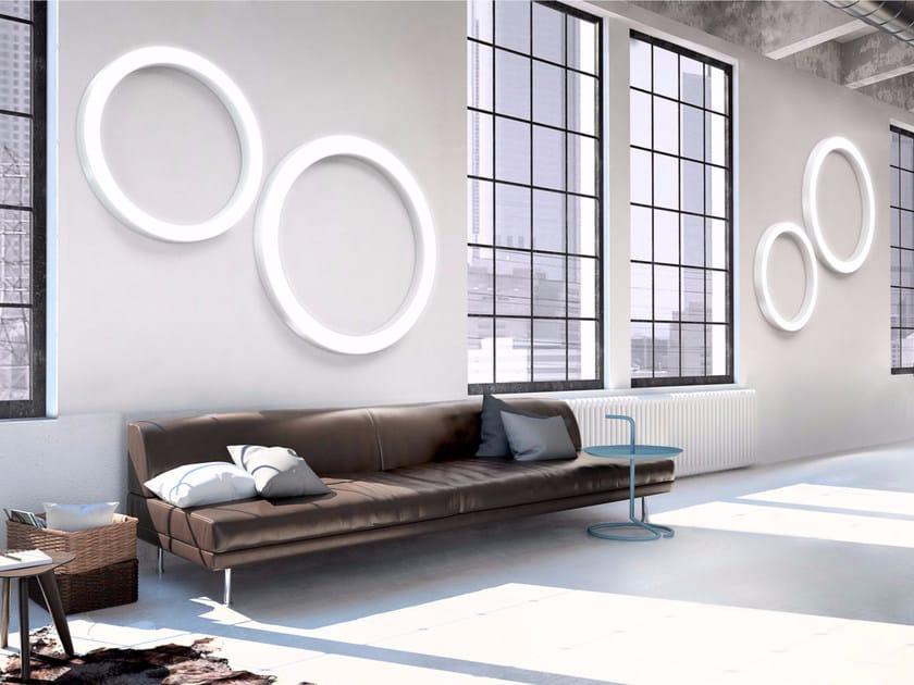 Aluminium wall lamp / ceiling lamp SILVER RING | Wall lamp by PANZERI