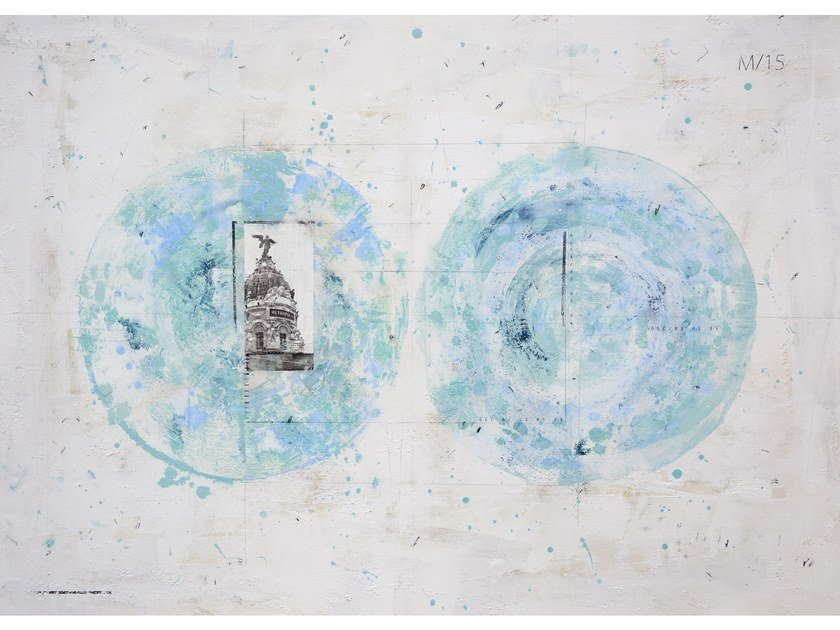 Canvas Painting Planisferio Metrópolis by NOVOCUADRO ART COMPANY