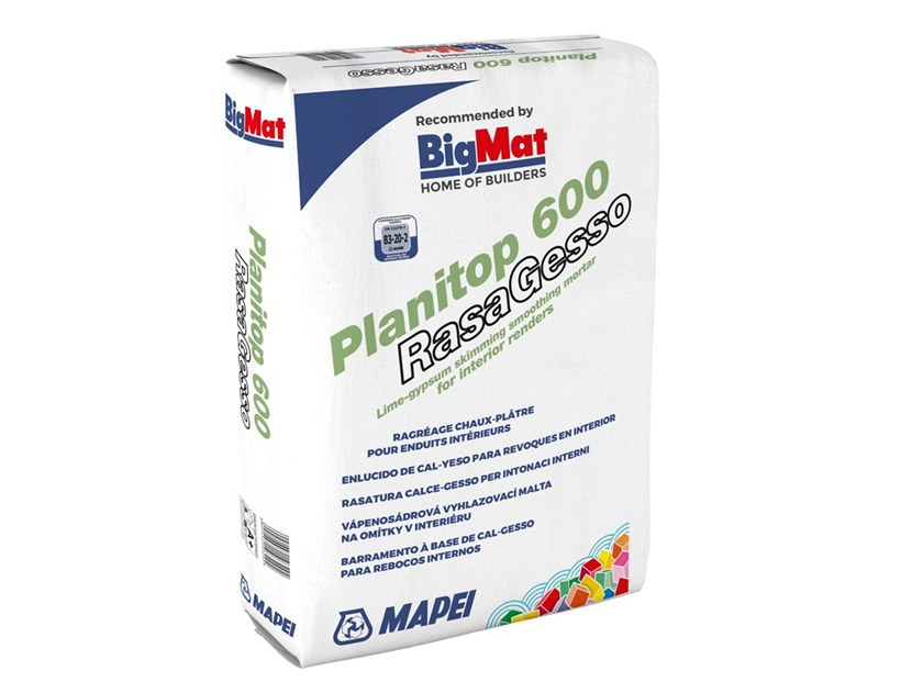 Smoothing compound PLANITOP 600 RASAGESSO by BigMat