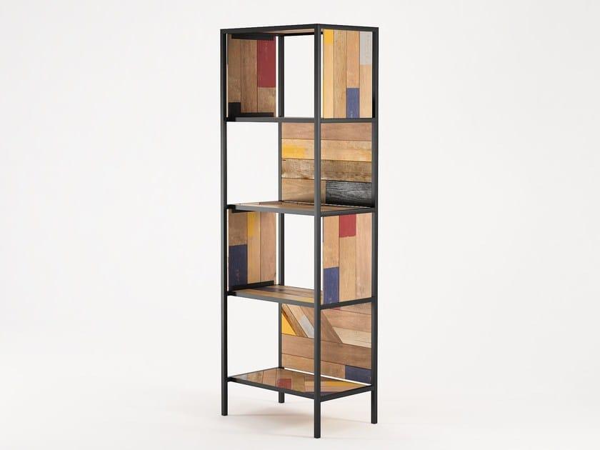 Reclaimed wood bookcase PLANKE VERTICAL RACK 4 | Bookcase by KARPENTER