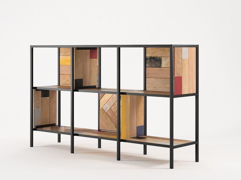 Reclaimed wood sideboard PLANKE HORIZONTAL RACK 6 | Sideboard by KARPENTER