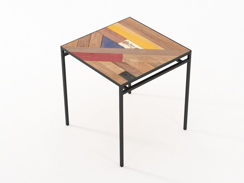 Square dining table PLANKE | Square table by KARPENTER