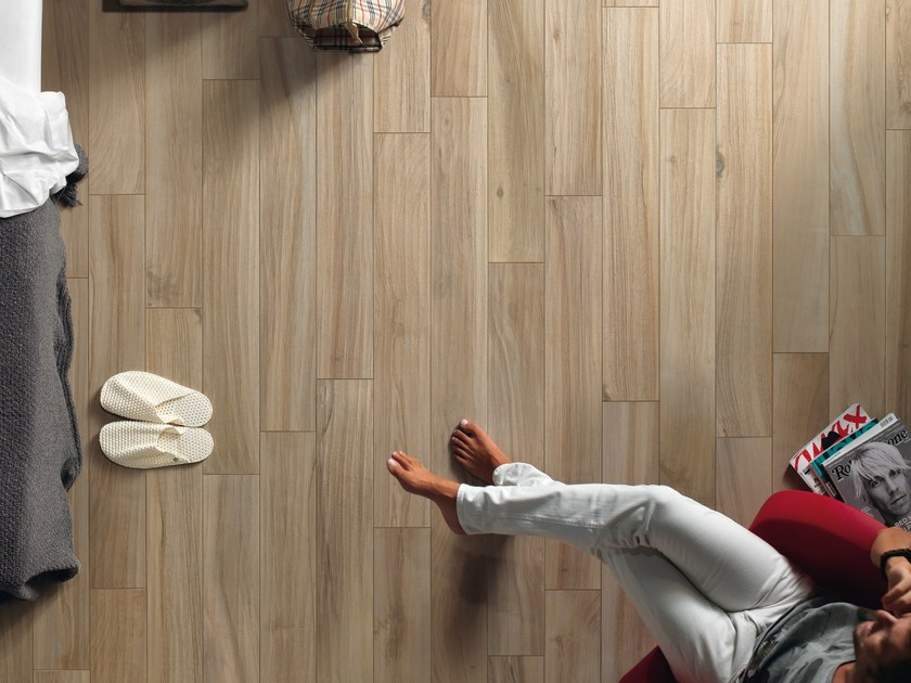 Porcelain stoneware wall/floor tiles with wood effect PLANKS CHESTNUT by ASTOR CERAMICHE