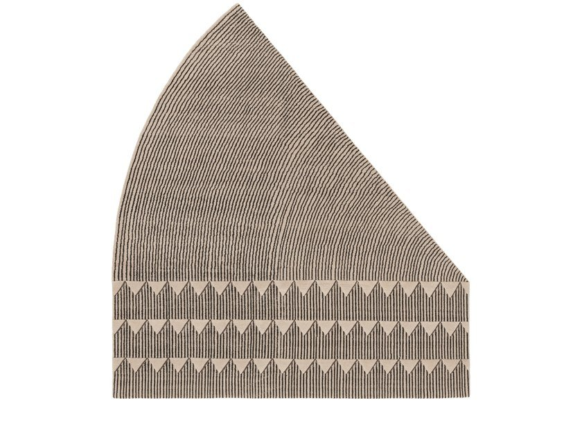 Handmade custom rug PLASTERWORKS B by cc-tapis