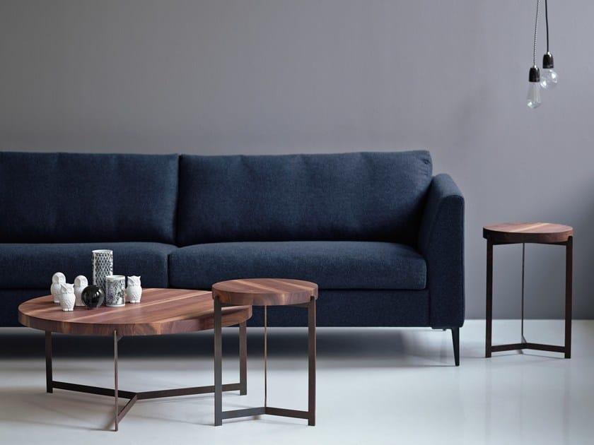 Round walnut side table PLATEAU COFFEE- & SIDE TABLE | Walnut coffee table by dk3