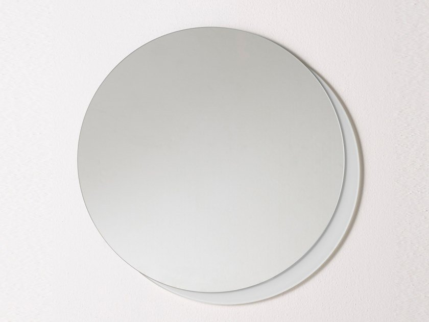 Round wall-mounted bathroom mirror PLATEAU S by Ex.t