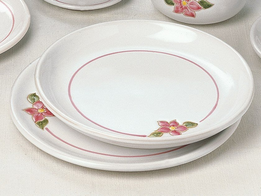 Ceramic plates set PRIMAVERA ROSA | Plates set by Cerasarda