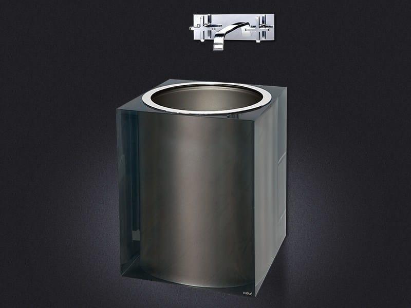 Wall-mounted resin washbasin PLATINUM GLOSS   Washbasin by Vallvé