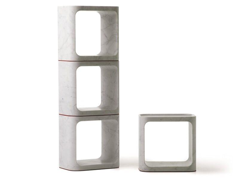 Carrara marble stool / coffee table PLATO | Marble coffee table by BALERI ITALIA