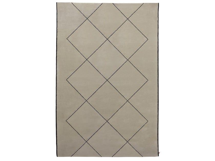 Tappeto fatto a mano rettangolare in lana PLATONICO by Porro