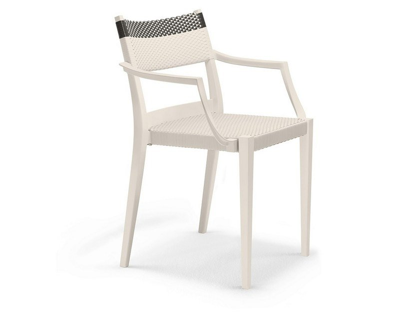 Stackable garden chair with armrests PLAY   Chair with armrests by DEDON