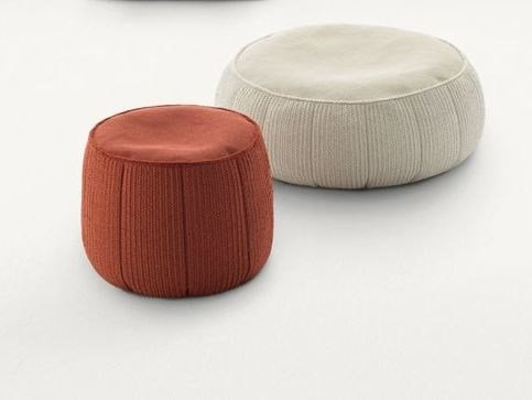 Round fabric pouf with removable lining PLAY | Round pouf by paola lenti