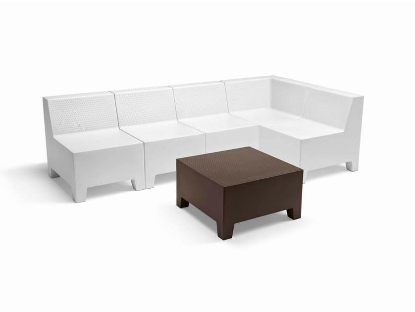 Sectional polyethylene sofa PLAYA | Sectional sofa by Metalmobil
