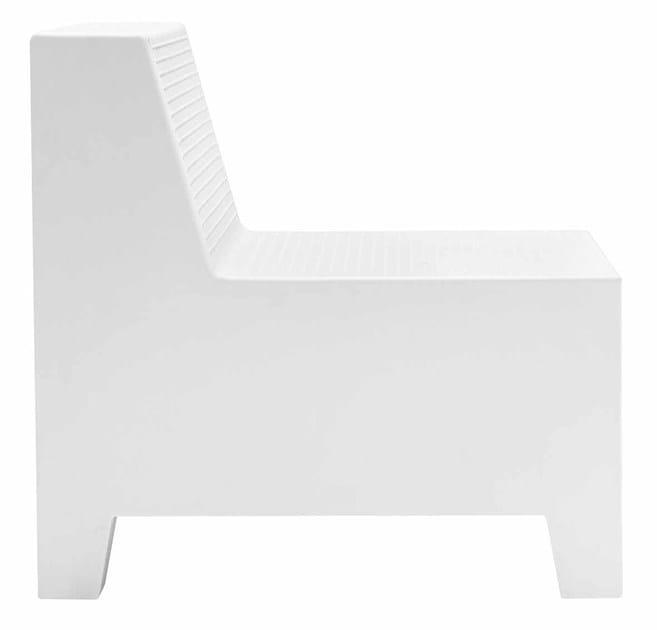 Modular polyethylene easy chair PLAYA   Polyethylene easy chair by Metalmobil