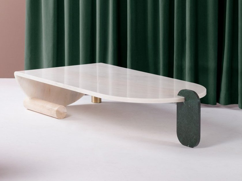 Marble coffee table PLAYING GAMES | Coffee table by DOOQ