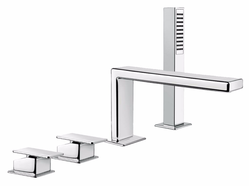 4 hole bathtub set with hand shower PLAYONE 85 - 8548122 by Fir Italia