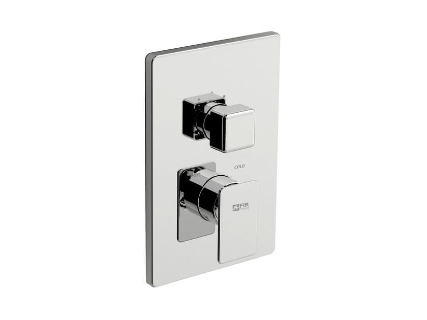 Miscelatore per doccia con deviatore con piastra PLAYONE 85 - 8550178 by Fir Italia