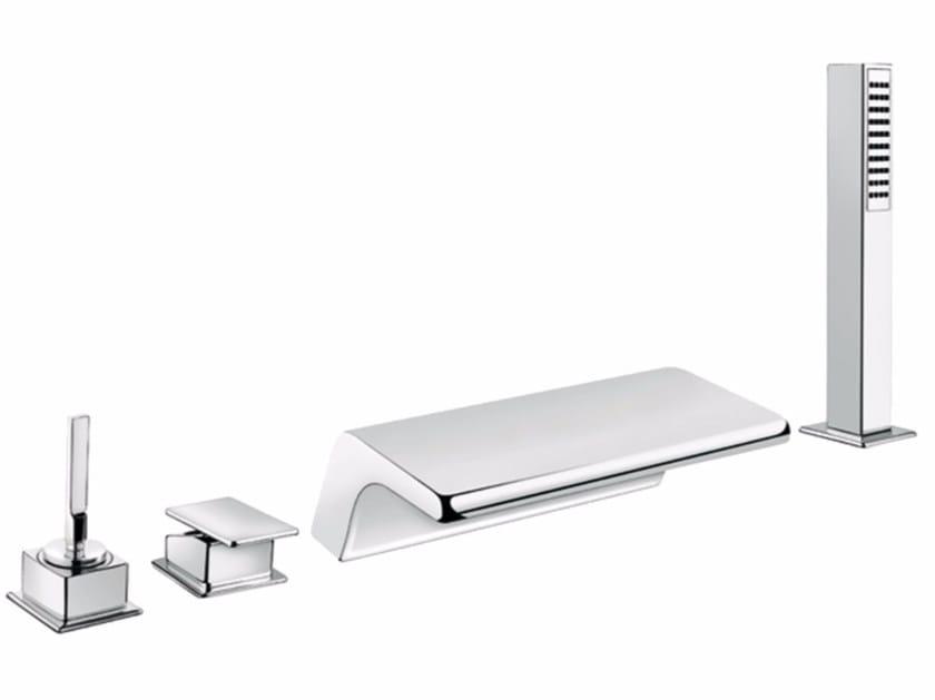 4 hole bathtub set with hand shower PLAYONE JK 86 - 8648522 by Fir Italia
