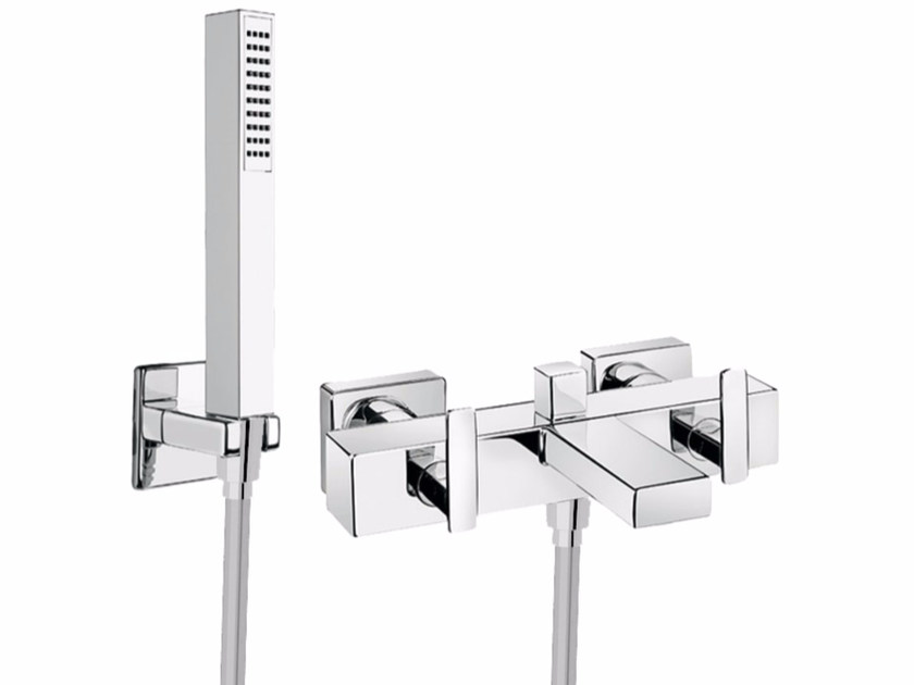 Wall-mounted bathtub tap with hand shower PLAYONE MINUS 38 - 3831502 by Fir Italia