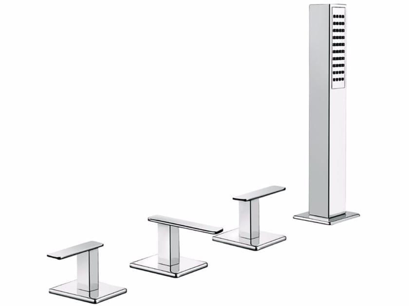 4 hole bathtub set with hand shower PLAYONE MINUS 38 - 3847452 by Fir Italia