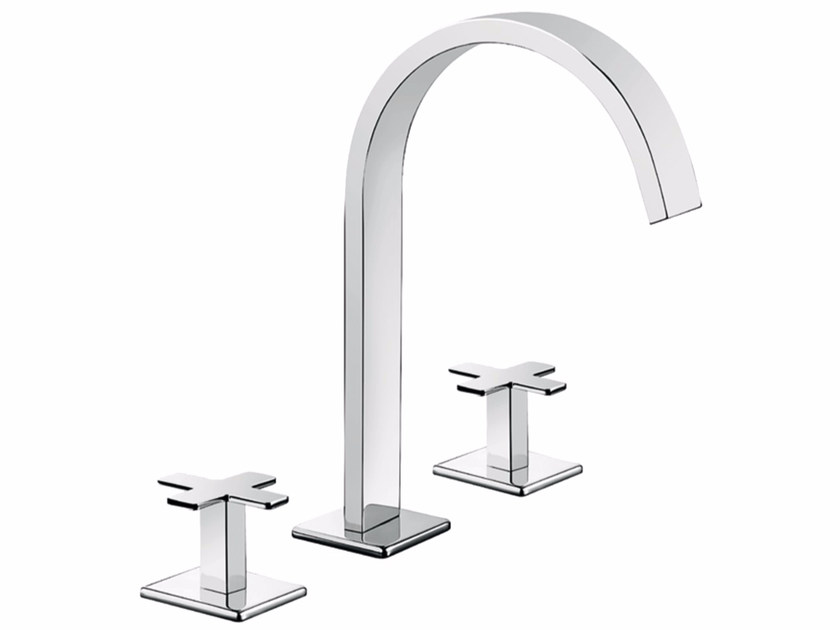 3 hole countertop washbasin tap PLAYONE PLUS 37 - 3712515 by Fir Italia