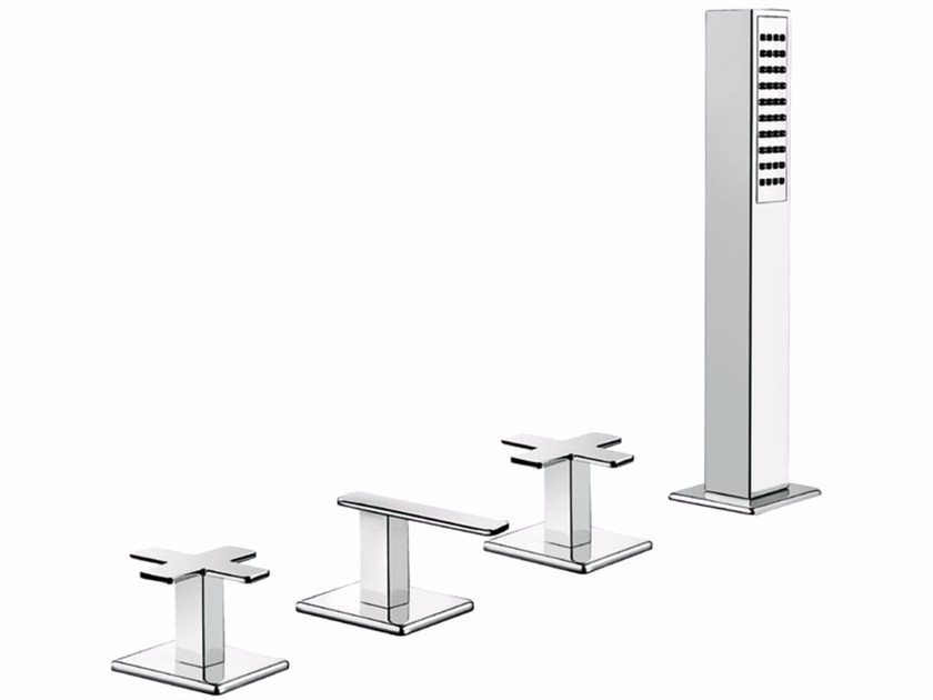4 hole bathtub set with hand shower PLAYONE PLUS 37 - 3747452 by Fir Italia