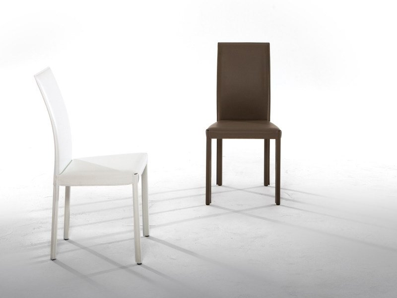 Upholstered leather chair PLAZA by Tonin Casa