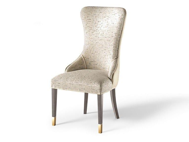 Upholstered fabric chair PLAZA by Valderamobili