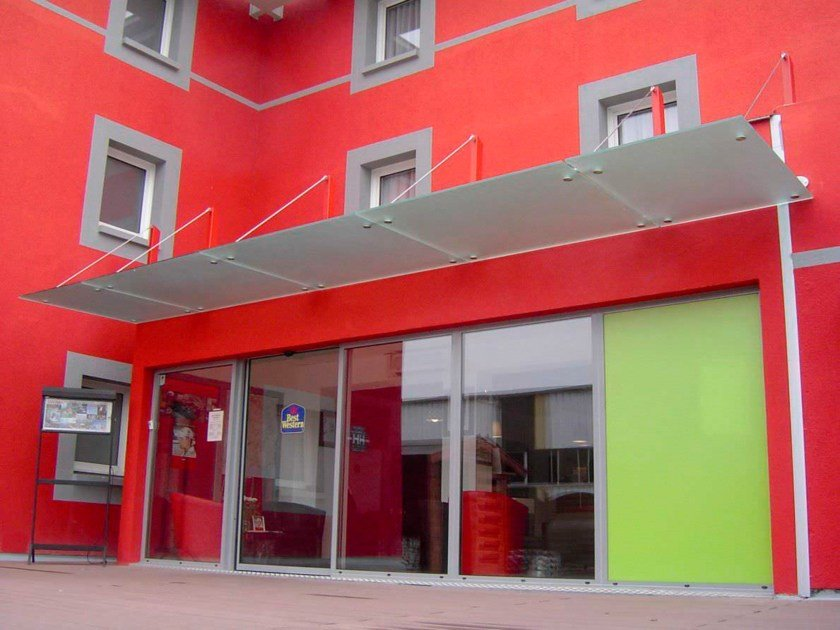 Glass door canopy PLAZZA by Colcom Group