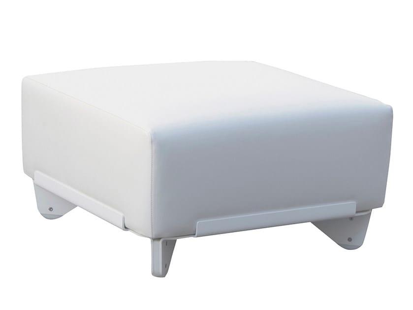 Vinyl garden footstool PLECS RELAX | Garden footstool by calma