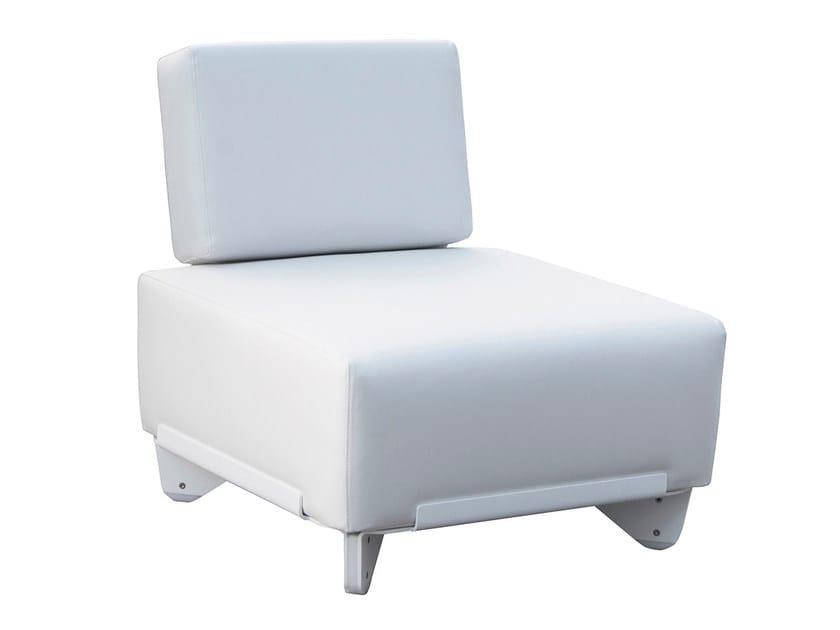 Modular Silvertex garden armchair PLECS RELAX | Garden armchair by calma