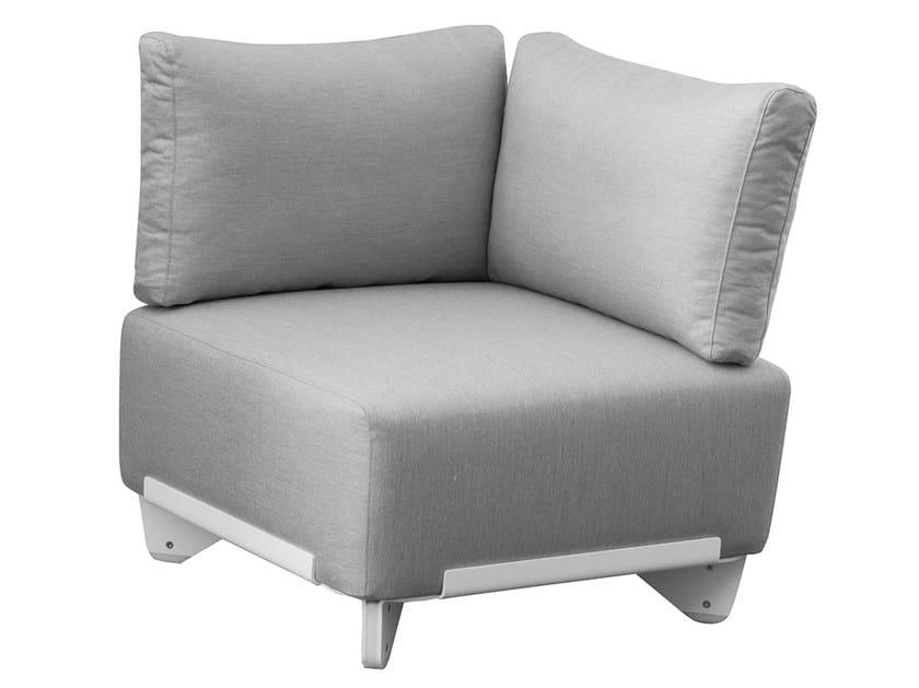 Corner Sunbrella® garden armchair PLECS SOFT | Corner garden armchair by calma