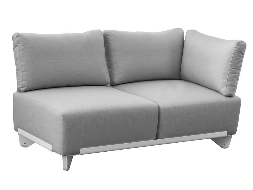 Corner Sunbrella® garden sofa PLECS SOFT | Corner garden sofa by calma