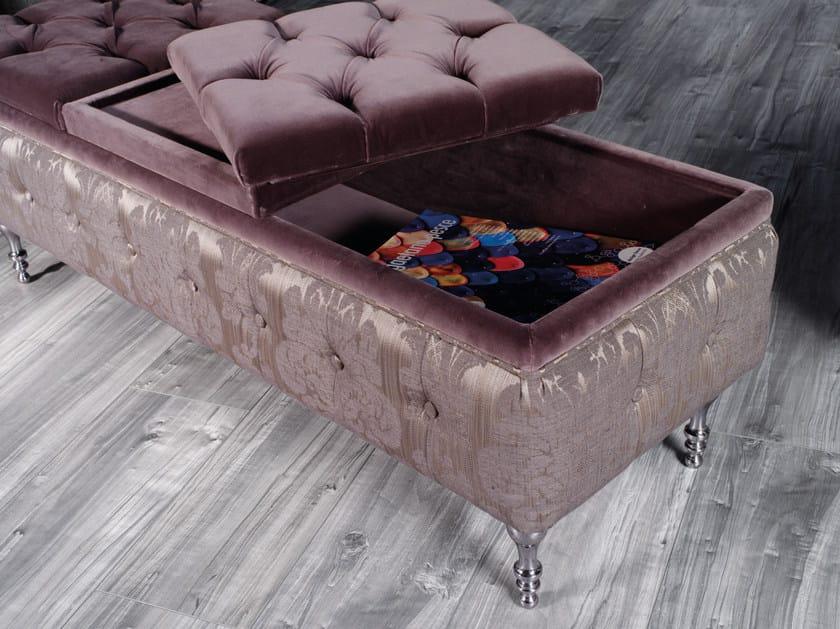 Panca Contenitore Tessuto : Panca capitonné contenitore imbottita in tessuto pleiadi lounge