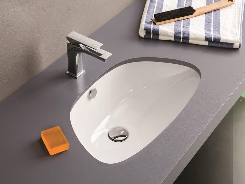 Vasque sous plan simple en céramique PLETTRO | Vasque sous plan by Artceram