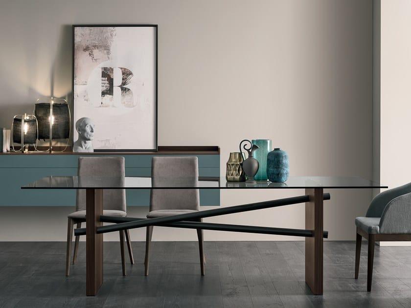 Tavolo in vetro PLINTO by Gruppo Tomasella