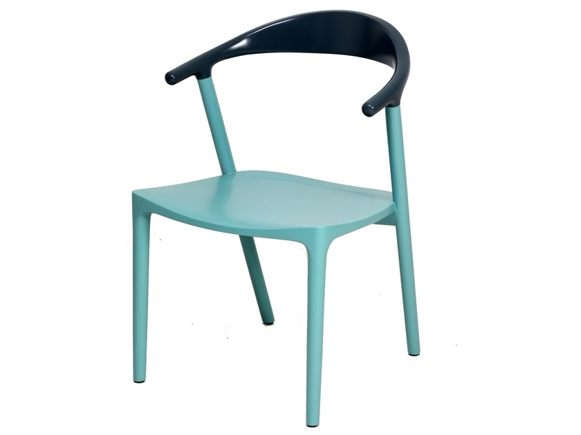 Lacquered open back teak chair PLOOT | Lacquered chair by ALANKARAM