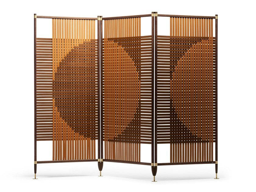 Leather room divider PLOT by Poltrona Frau