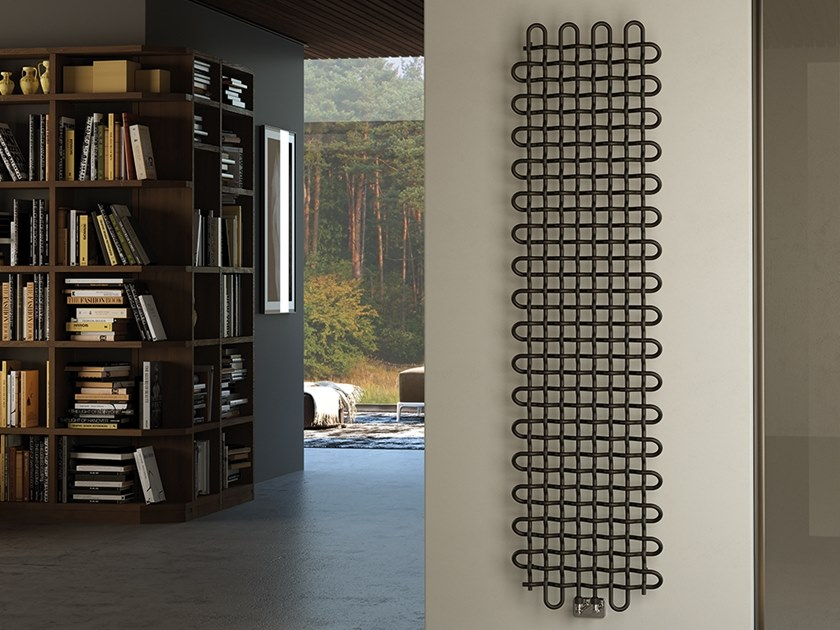 Vertical wall-mounted metal decorative radiator PLOT by XÒ by Metalform