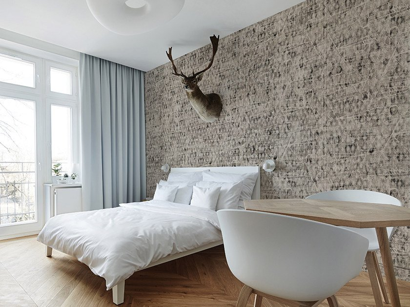 Motif panoramic wallpaper PLOTS by Inkiostro Bianco