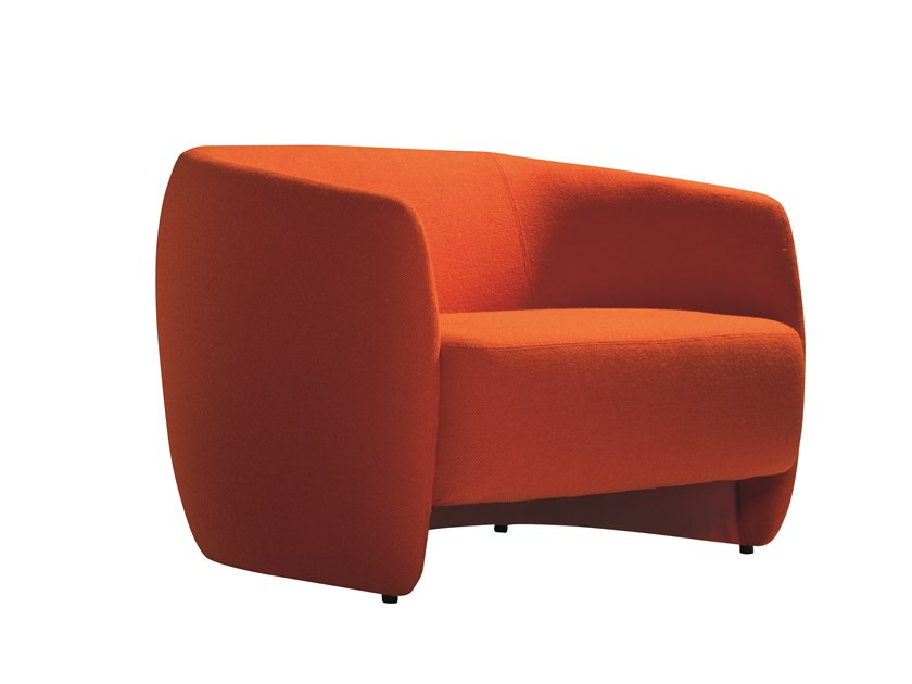 Fabric armchair with armrests PLUM 565 by Capdell