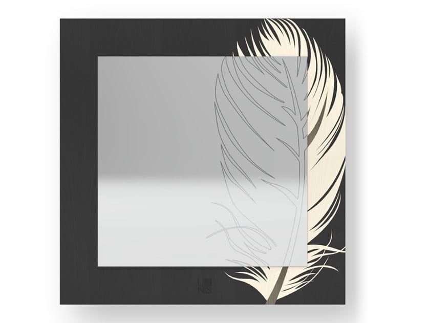 Specchio quadrato a parete PLUME COLD | Specchio by LIGNIS®